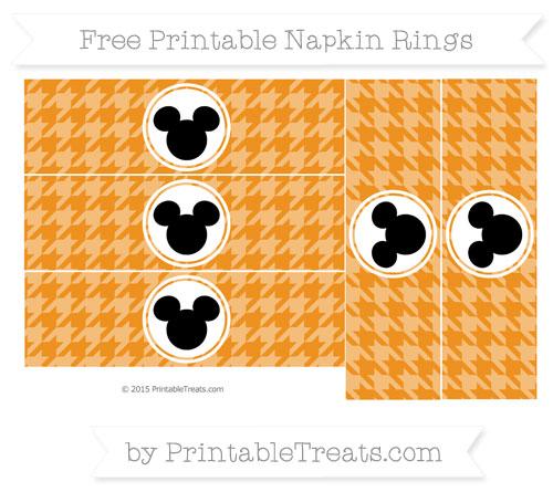 Free Carrot Orange Herringbone Pattern Mickey Mouse Napkin Rings