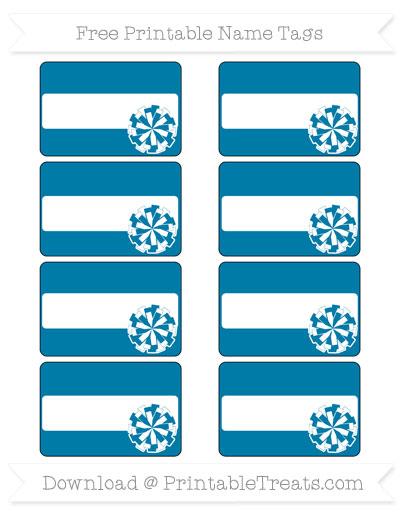 Free Cerulean Blue Cheer Pom Pom Tags
