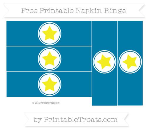 Free Cerulean Blue Star Napkin Rings