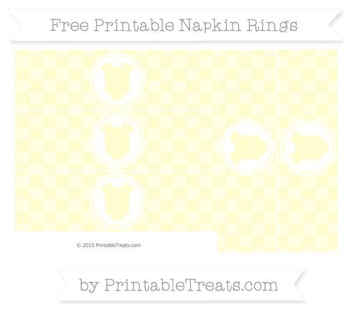Free Cream Checker Pattern Baby Onesie Napkin Rings