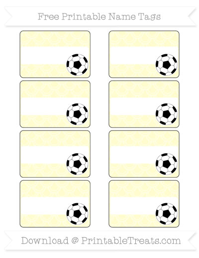 Free Cream Fish Scale Pattern Soccer Name Tags
