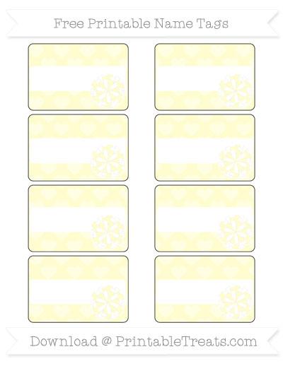 Free Cream Heart Pattern Cheer Pom Pom Tags