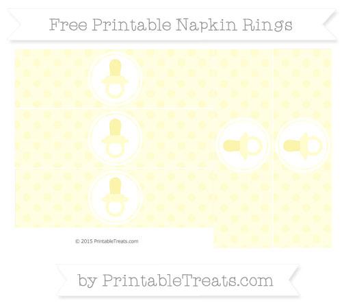Free Cream Polka Dot Baby Pacifier Napkin Rings