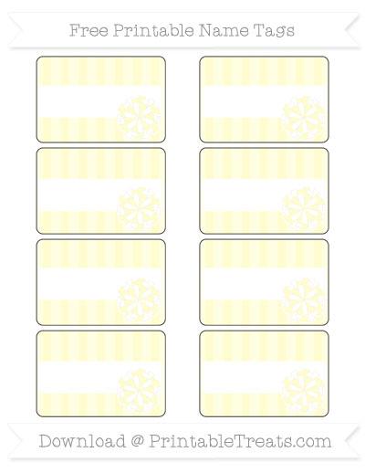 Free Cream Striped Cheer Pom Pom Tags