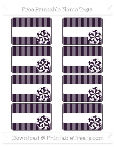 Free Dark Purple Striped Cheer Pom Pom Tags