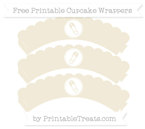 Free Eggshell Diaper Pin Scalloped Cupcake Wrappers