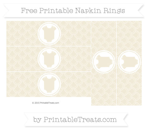 Free Eggshell Fish Scale Pattern Baby Onesie Napkin Rings
