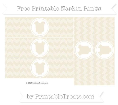 Free Eggshell Herringbone Pattern Baby Onesie Napkin Rings
