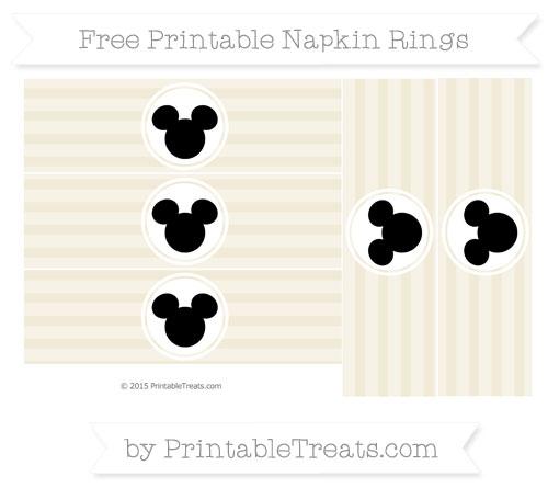 Free Eggshell Horizontal Striped Mickey Mouse Napkin Rings