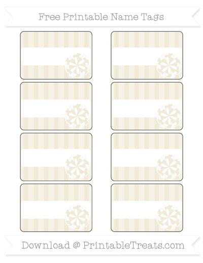 Free Eggshell Striped Cheer Pom Pom Tags