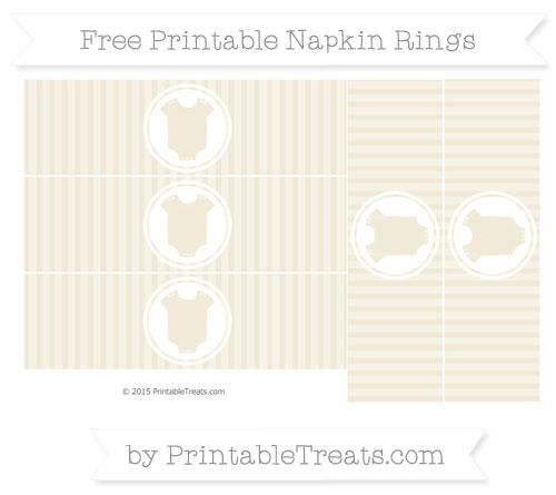 Free Eggshell Thin Striped Pattern Baby Onesie Napkin Rings