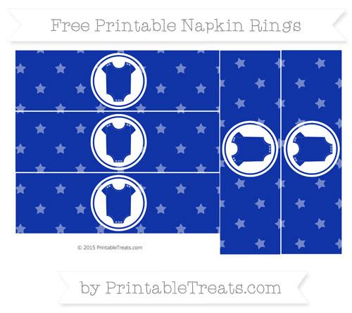 Free Egyptian Blue Star Pattern Baby Onesie Napkin Rings