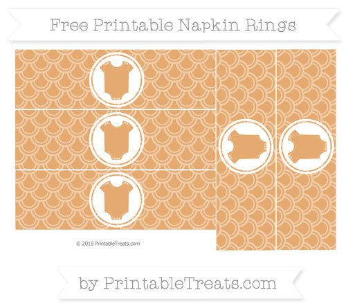 Free Fawn Fish Scale Pattern Baby Onesie Napkin Rings
