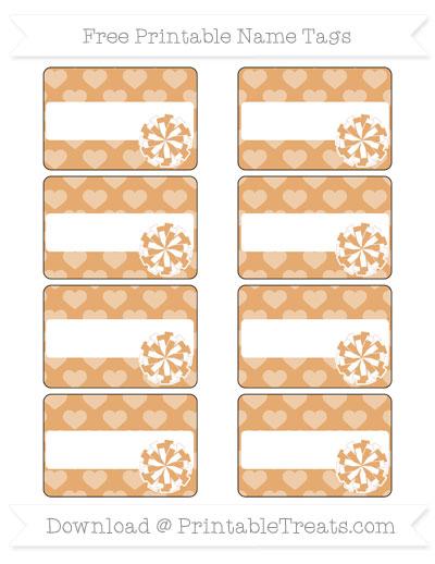 Free Fawn Heart Pattern Cheer Pom Pom Tags