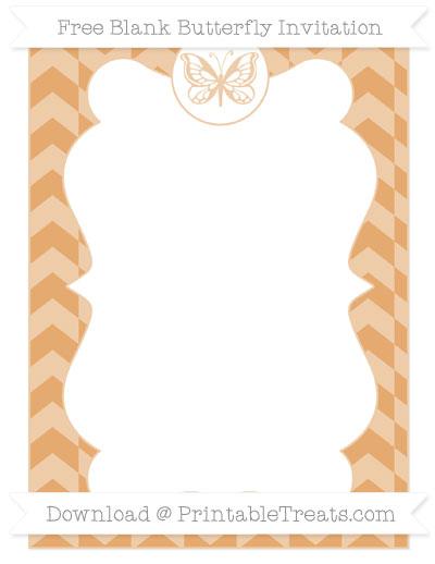 Free Fawn Herringbone Pattern Blank Butterfly Invitation