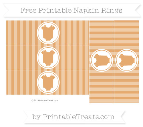 Free Fawn Striped Baby Onesie Napkin Rings