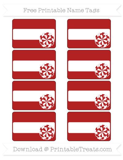 Free Fire Brick Red Cheer Pom Pom Tags