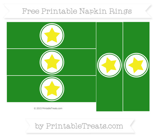 Free Forest Green Star Napkin Rings