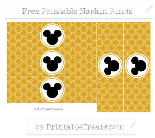 Free Goldenrod Fish Scale Pattern Mickey Mouse Napkin Rings