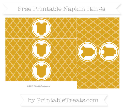 Free Goldenrod Moroccan Tile Baby Onesie Napkin Rings