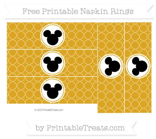 Free Goldenrod Quatrefoil Pattern Mickey Mouse Napkin Rings