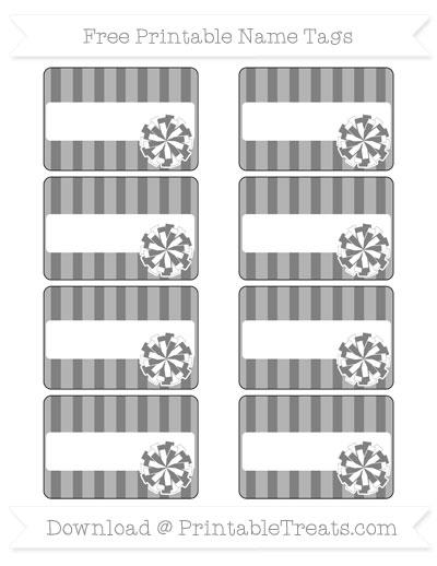 Free Grey Striped Cheer Pom Pom Tags