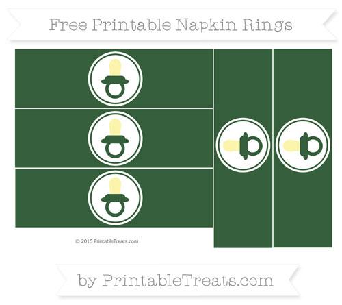 Free Hunter Green Baby Pacifier Napkin Rings