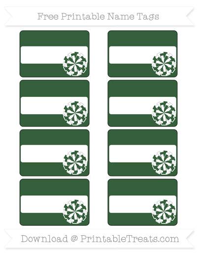 Free Hunter Green Cheer Pom Pom Tags