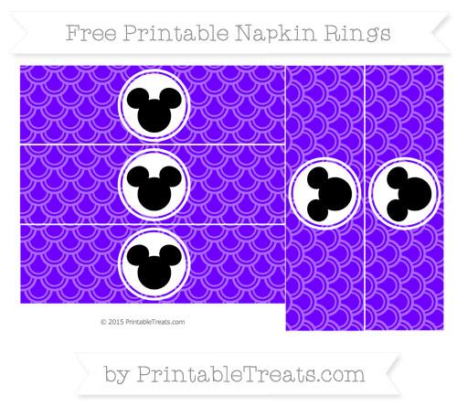 Free Indigo Fish Scale Pattern Mickey Mouse Napkin Rings