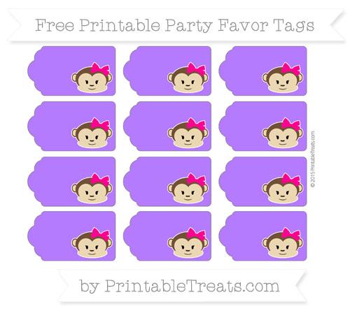 Free Indigo Girl Monkey Party Favor Tags