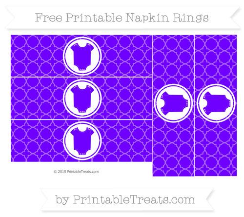 Free Indigo Quatrefoil Pattern Baby Onesie Napkin Rings