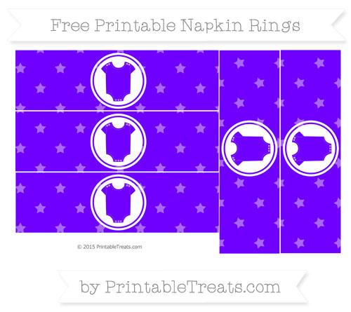 Free Indigo Star Pattern Baby Onesie Napkin Rings