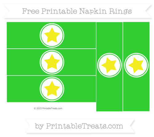 Free Lime Green Star Napkin Rings