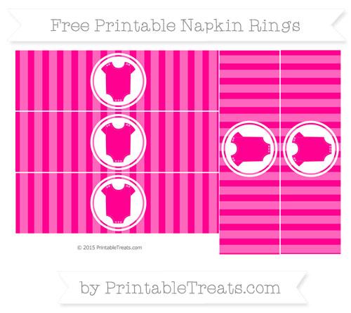 Free Magenta Striped Baby Onesie Napkin Rings