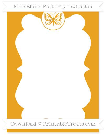 Free Marigold Blank Butterfly Invitation
