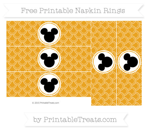 Free Marigold Fish Scale Pattern Mickey Mouse Napkin Rings