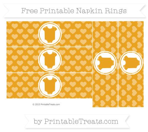 Free Marigold Heart Pattern Baby Onesie Napkin Rings