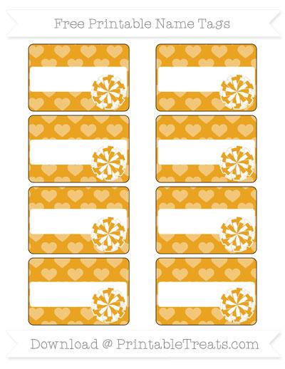 Free Marigold Heart Pattern Cheer Pom Pom Tags