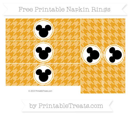 Free Marigold Herringbone Pattern Mickey Mouse Napkin Rings