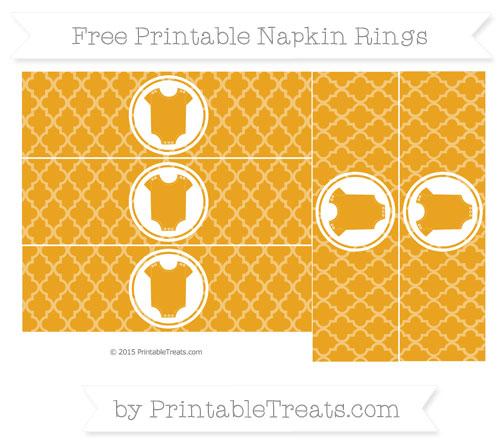 Free Marigold Moroccan Tile Baby Onesie Napkin Rings