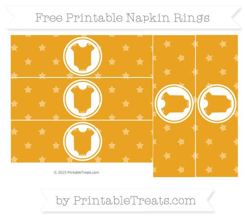 Free Marigold Star Pattern Baby Onesie Napkin Rings