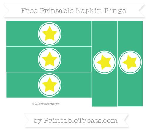 Free Mint Green Star Napkin Rings