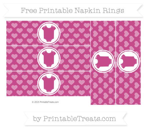 Free Mulberry Purple Heart Pattern Baby Onesie Napkin Rings