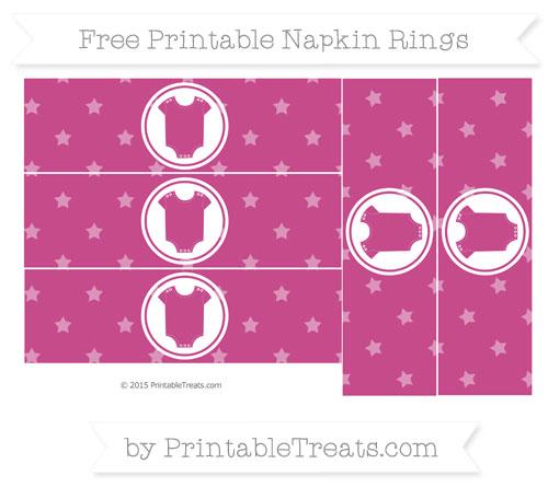 Free Mulberry Purple Star Pattern Baby Onesie Napkin Rings