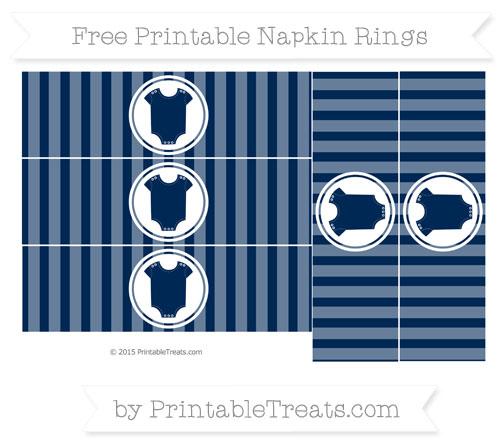 Free Navy Blue Striped Baby Onesie Napkin Rings