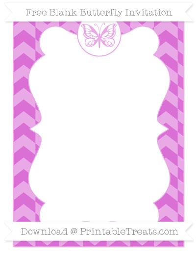 Free Orchid Herringbone Pattern Blank Butterfly Invitation