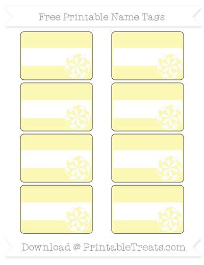 Free Pastel Light Yellow Cheer Pom Pom Tags