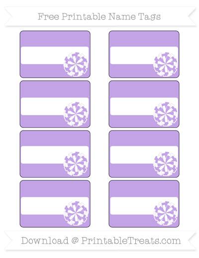 Free Pastel Purple Cheer Pom Pom Tags