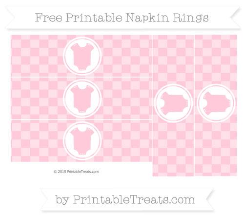 Free Pink Checker Pattern Baby Onesie Napkin Rings
