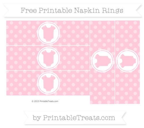 Free Pink Dotted Pattern Baby Onesie Napkin Rings